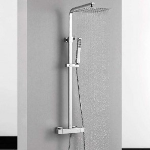 Sistema de ducha termostática TENERIFE Aquassent de acero regulable en altura