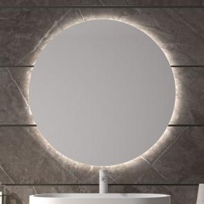 Espejo de baño TENERIFE Ø120 cm con marco metálico y luz LED
