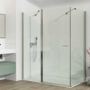 Mampara de ducha angular TER GlassInox.