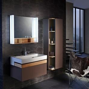Mueble de baño TERRACE con lavabo de 80 cm color Glacé