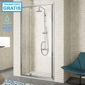Mampara de ducha frontal 300 TR503 de Kassandra. Frente fijo más puerta Batiente