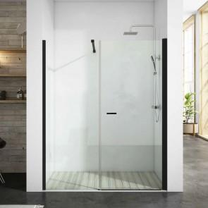 Mampara de ducha frontal TURIA SONIA GlassInox. Frente fijo más puerta abatible