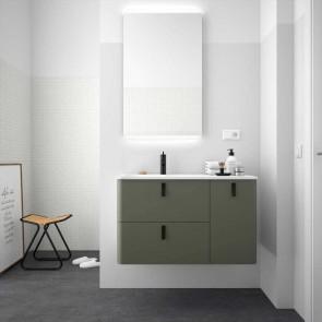Mueble de baño UNIIQ CASTAÑO Mate Salgar 120 cm