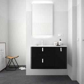 Mueble de baño UNIIQ NEGRO Mate Salgar 120 cm