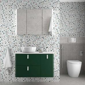 Mueble de baño UNIIQ ROYAL GREEN Mate Salgar 120 cm