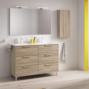 Mueble de baño URBAN de ROYO con 6 cajones de 120 cm