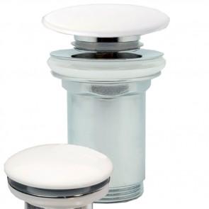 Válvula clic clac con tapón en porcelana blanca OXEN