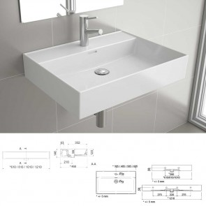 Lavabo porcelana blanca  VENETO 1210 Salgar 24177