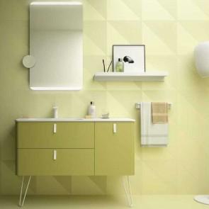 Mueble de baño UNIIQ VERDE-ÁCIDO Mate Salgar 120 cm
