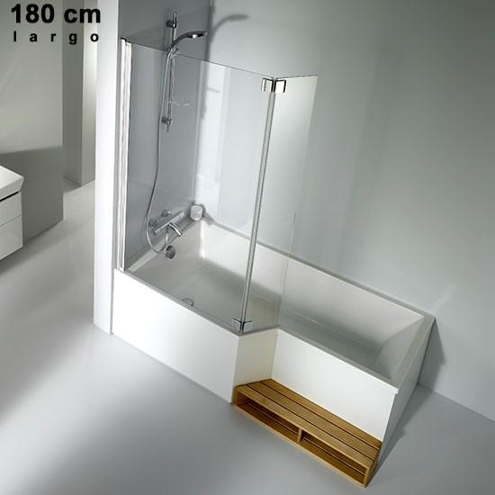 ba era acr lica izq 180 170 160 150 jacob delafon neo. Black Bedroom Furniture Sets. Home Design Ideas