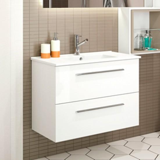 mueble de ba o serie 35 salgar 80 cm blanco brillo con