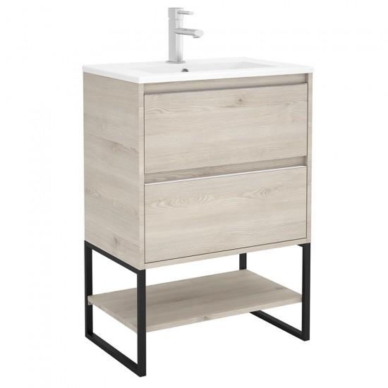 Mueble Ba O S40 Salgar 80 Y Fondo Reducido Con Lavabo Cer Mico