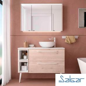 Muebles de baño FUSSION CHROME 2 Cajones Salgar