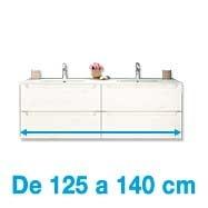 De 125 a 140 cm de ancho