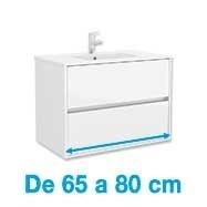 De 65 a 80 cm de ancho