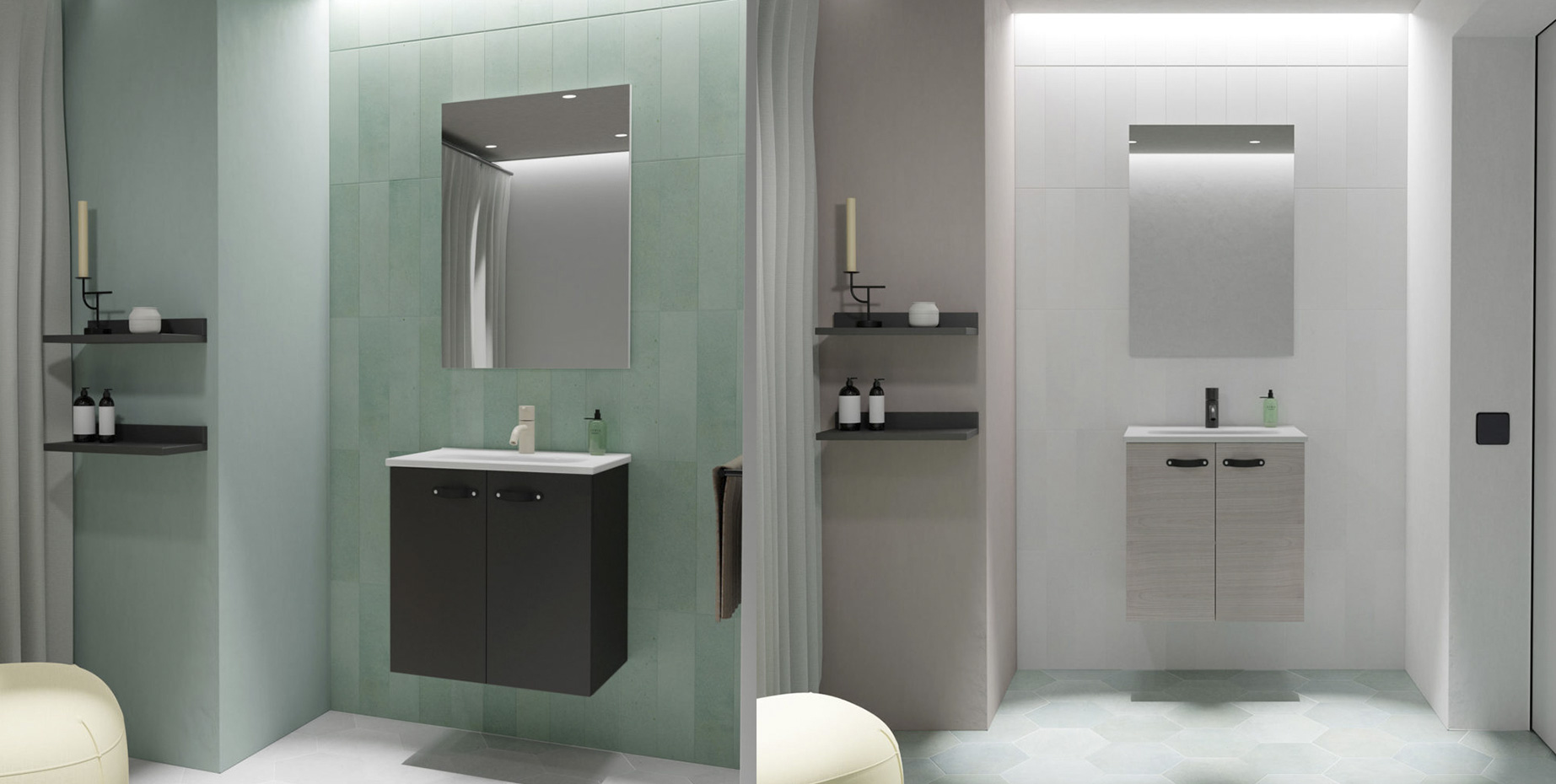 Muebles de baño ANEKO de Amizuva de Royo Group