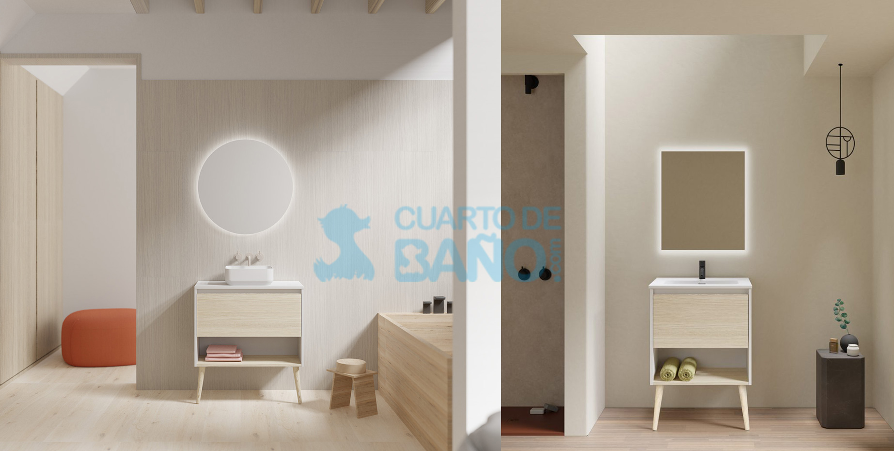 Mueble de baño NARA de Amizuva de Royo Group