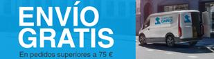 Transporte gratis pedidos mas de 75 €
