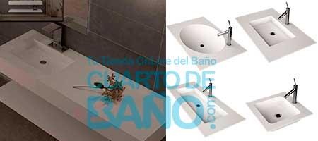 Comprar lavabos de carga mineral de Kretta Bath y Oxirion online en Cuartosdebaño.com